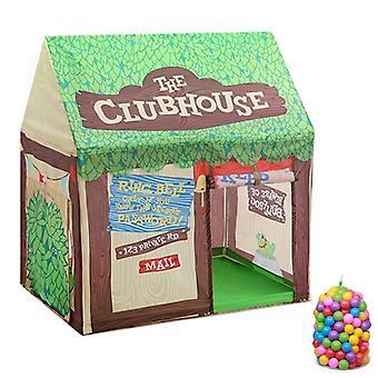 Domowe dzieci drukowanie Play Tent Small Game House, z 50 Kulki Oceanu (Zielony)