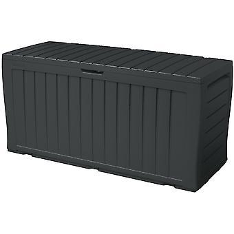 Puutarhalaatikko 270 Liter - Säilytyslaatikko 117x45x57 cm - Tyynylaatikko - Antrasiitti