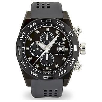 Locman Men's Watch Chronograph Automatic Stealth 300 Metres 0217V3-GKGYNKS2A