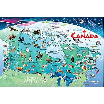 لغز أرضية تلة المرصوفة بالحصى - خريطة كندا