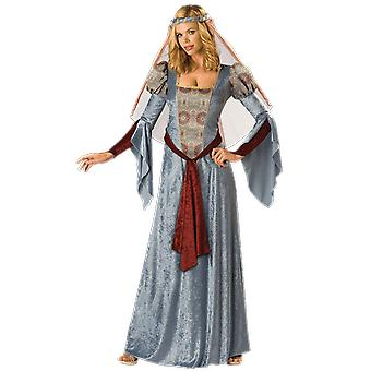 Womens Maid Marion Fairy Tale Medieval Robin Hood Fancy Dress Costume