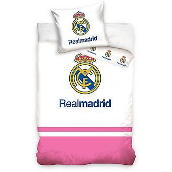 Duvet cover Real Madrid logo pink / white 100 x 135 cm