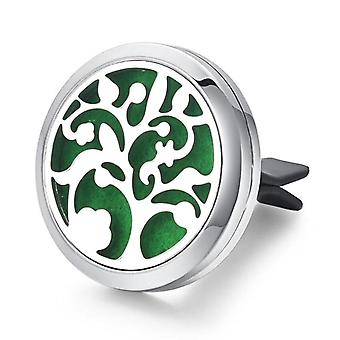 Nordic style stainless steel tree of life diy car vent scent freshener device
