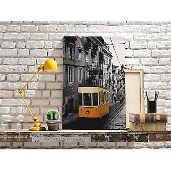 Diy płótno malarstwo - Tramwaj w Lizbonie-40x60
