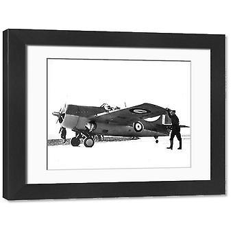 Grumman Martlet I AX828. Large Framed Photo. Grumman Martlet I, AX828.