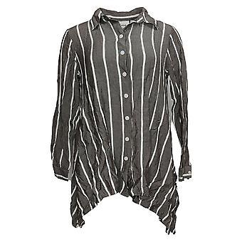 Linea por Louis Dell'Olio Women's Top Cotton w? Bordado Expresso A379908