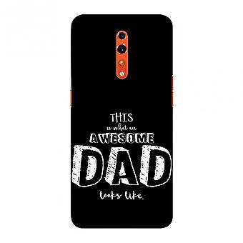 Father's Day - Awesome Dad Slim Hard Shell Case For Oppo Reno Z