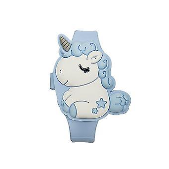 Дети часы Милый Кролик Cat Мультфильм Led