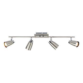 Spotlight Low Energy Bar Satin Chrome, Polerad Krom, 4x GU10