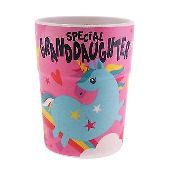 History & Heraldry Bamboo Crew Beaker Unicorn Special Granddaughter Cup