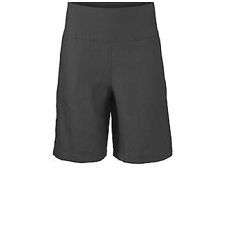 Masai Clothing Pinja Black Linen Shorts