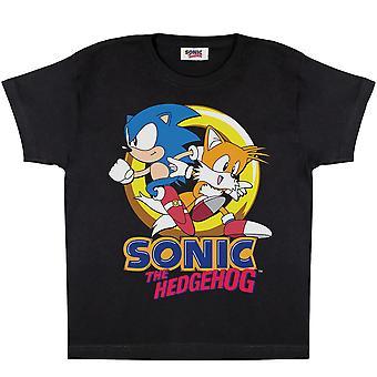 Sonic The Hedgehog Girls Sonic och Tails T-Shirt