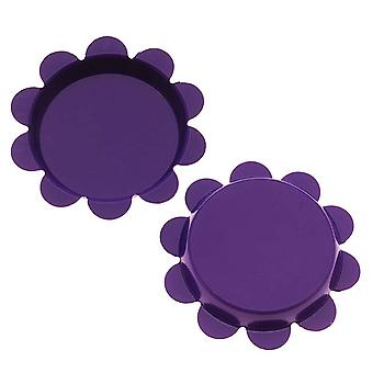 Final Sale - New Purple Flower Bottle Caps Craft Scrapbook Jewelry No Liners 25mm (24)