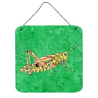Cavalletta caroline's Treasures su parete in metallo di alluminio verde o stampe appese alla porta, 6 x 6, multicolore