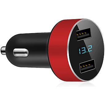 FengChun GRK Mini-Ladegerät, Integriertes Voltmeter und Amperemeter, Zigarettenanzünder