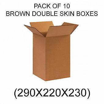 Double Skin Brown Muuttolaatikot - Pakkaus 10 - 290 x 220 x 230