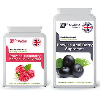 Acai Berry + Raspberry Ketones | Suitable For Vegetarians & Vegans | Made In UK by Prowise