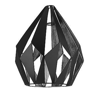 Eglo Carlton icke-elektrisk lätt passform skugga i svart & silver