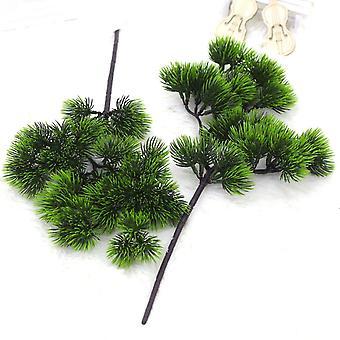 Artificial plant beauty pine tree plastic fake green plants 3pcs
