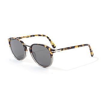 Persol Typewriter Dark Smoke Lens Sunglasses - Brown Tortoise Smoke