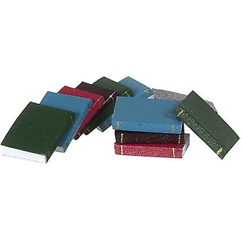 Dolls House Set 12 Bound Books With Pages Miniature 1:12 Study School Accessory