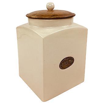 Vasetto biscotto in ceramica alla crema