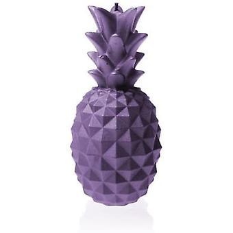 Lila keskikokoinen ananas kynttilä