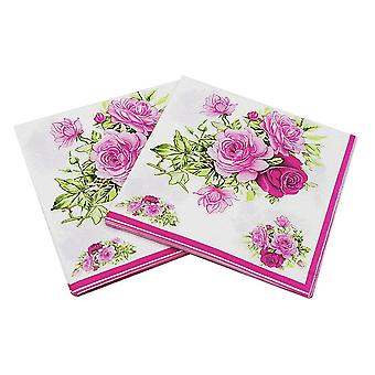 Розовая бумага Салфетка Цветок Праздничный и Вечеринка Ткань