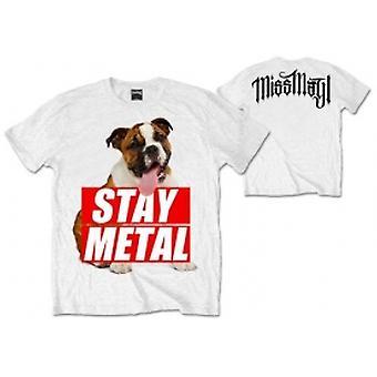 Miss May I Bull Dog Mens White T Shirt: X Large