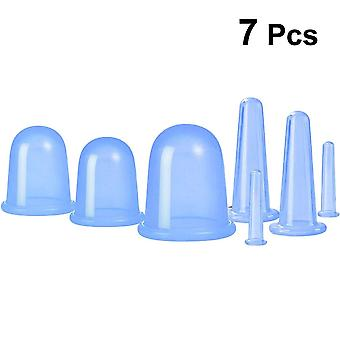 7pcs Silicone Facial Massage Cupping Set Vacuum Massager Cups Cellulite Therapy