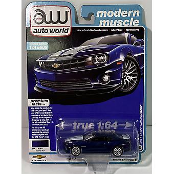 2011 Chevy Camaro RS/SS Imperial Blue 1:64 Auto World AW64252B