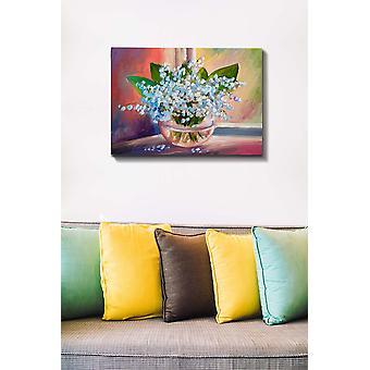 Kanvas Tablo (50 x 70) - 157 Flerfärgade dekorativa dukmålning