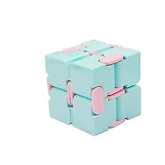Rubik-kocka toy, stresszoldó toy felnőtteknek és gyerekeknek(Kék)