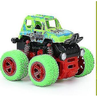 Children Mini Inertial Off Road Vehicle Four Wheel Drive Plastic Children Toy(Green)