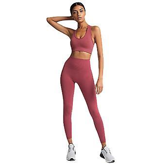 Yoga set workout leggings sports suit bras fitness gym running set for women