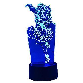 Anime 3d Lamp Night Light julelys til soveværelse Decor fødselsdagsgave