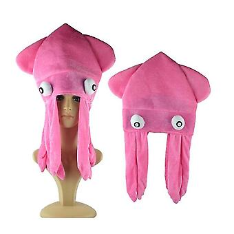 Octopus Hat Lovers Children Adult Funny Hats(Pink)