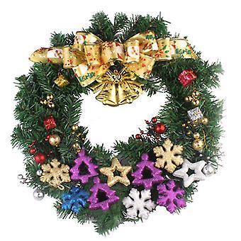 Boże Narodzenie Led Wieniec Garland Wisiorek Kwiat Xmas Dekoracja