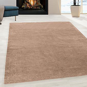 Wasbare antislip handgemaakte tapijt Taupe
