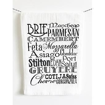 Brie Manchego-cotton Kitchen Towel
