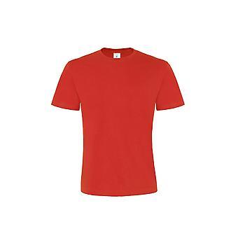 B & C Mens exakt 190 Kortärmad Crew Neck T-Shirt