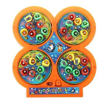 Fishing toys random color go fishing game electric rotating magnetic magnet fish toy kid educational toys