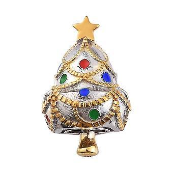 Stern Weihnachtsbaum Charme für Frauen in Platin vergoldet Silber mit Hochglanz