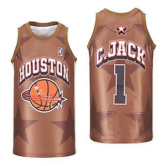 Men's Houston Travis Scott Basketball Jersey Stitched Size S-xxl