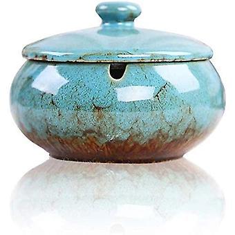Cendrier en céramique avec couvercle pour la décoration de table 1