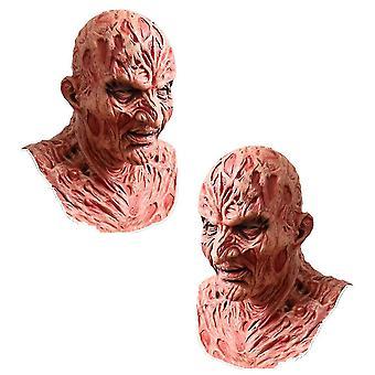 Qian Freddy Krueger Máscara de látex Carnaval Halloween Fiesta realista para adultos Miedo Cosplay Prop