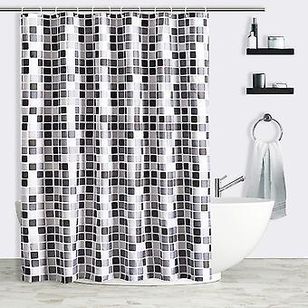 Cortina de ducha de impresión de baño, con gancho, anti-moho y antibacteriano (a)