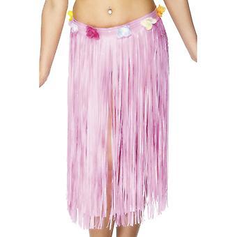 חצאית החולה הוואי התינוק ורוד עם פרחים ולקרו מצורף 73 ס מ