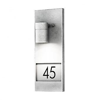 Konstsmide Modena Aluminum Illuminated Lit House Numbers Light