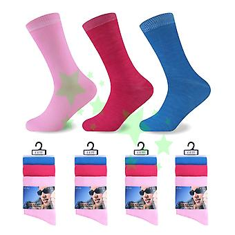 Plaine de féminin Ladies Fashion Socks 4-6 paires de taille 12